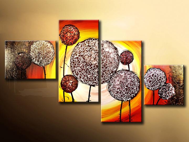 Quadri dipinti ASTRATTI quadrittici 130x80 cm