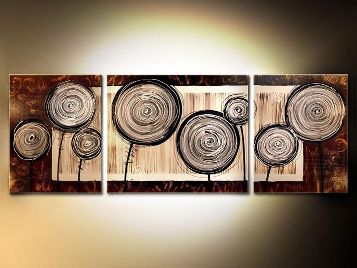 Quadri dipinti astratti trittici 140x50 cm for Quadri trittici moderni
