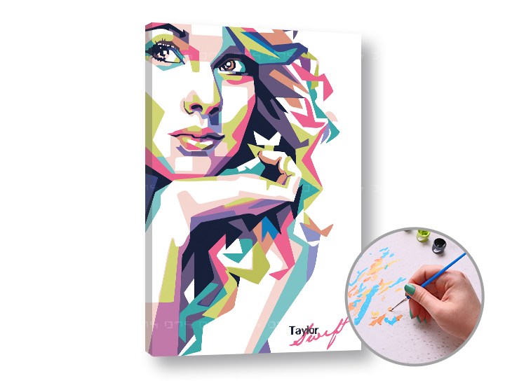 Dipingere con i numeri TAYLOR SWIFT - Level Starter 60x40 cm