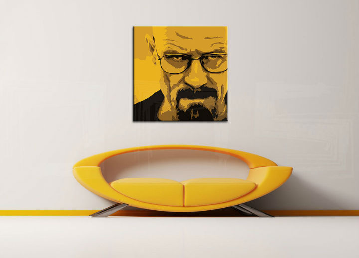Quadri dipinti a mano Pop Art Breaking Bad di 4 pezzi brb