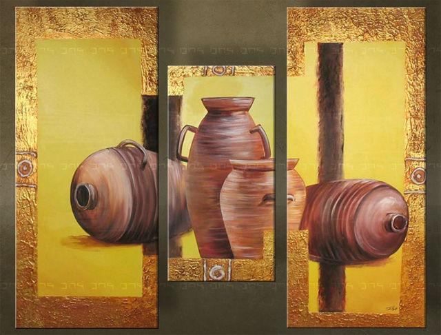 Quadri dipinti ceramica trittici for Quadri trittici moderni