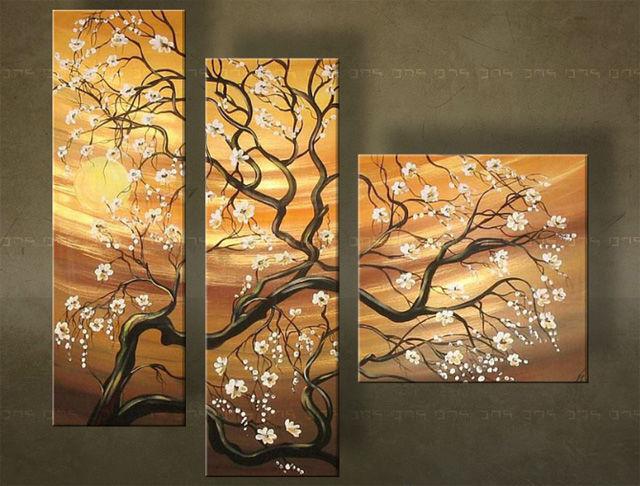 Quadri dipinti alberi trittici for Quadri trittici moderni