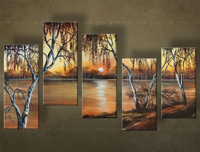 Quadri dipinti PAESAGGIO 5 pezzi