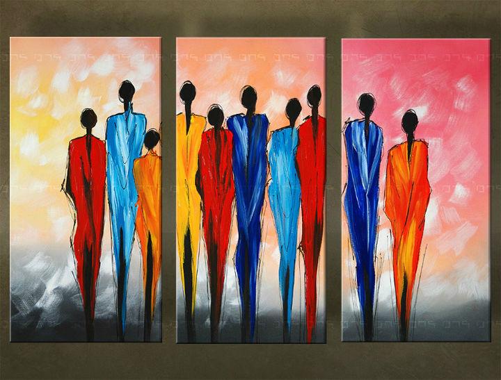 Quadri dipinti figure trittici 5939fa for Quadri trittici moderni