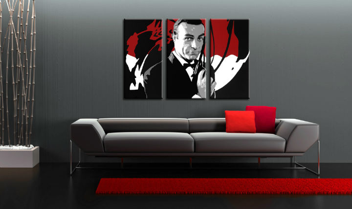 Quadri dipinti a mano Pop Art James Bond di 3 pezzi bond2
