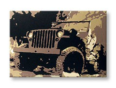 Quadri dipinti a mano Pop Art JEEP jeep